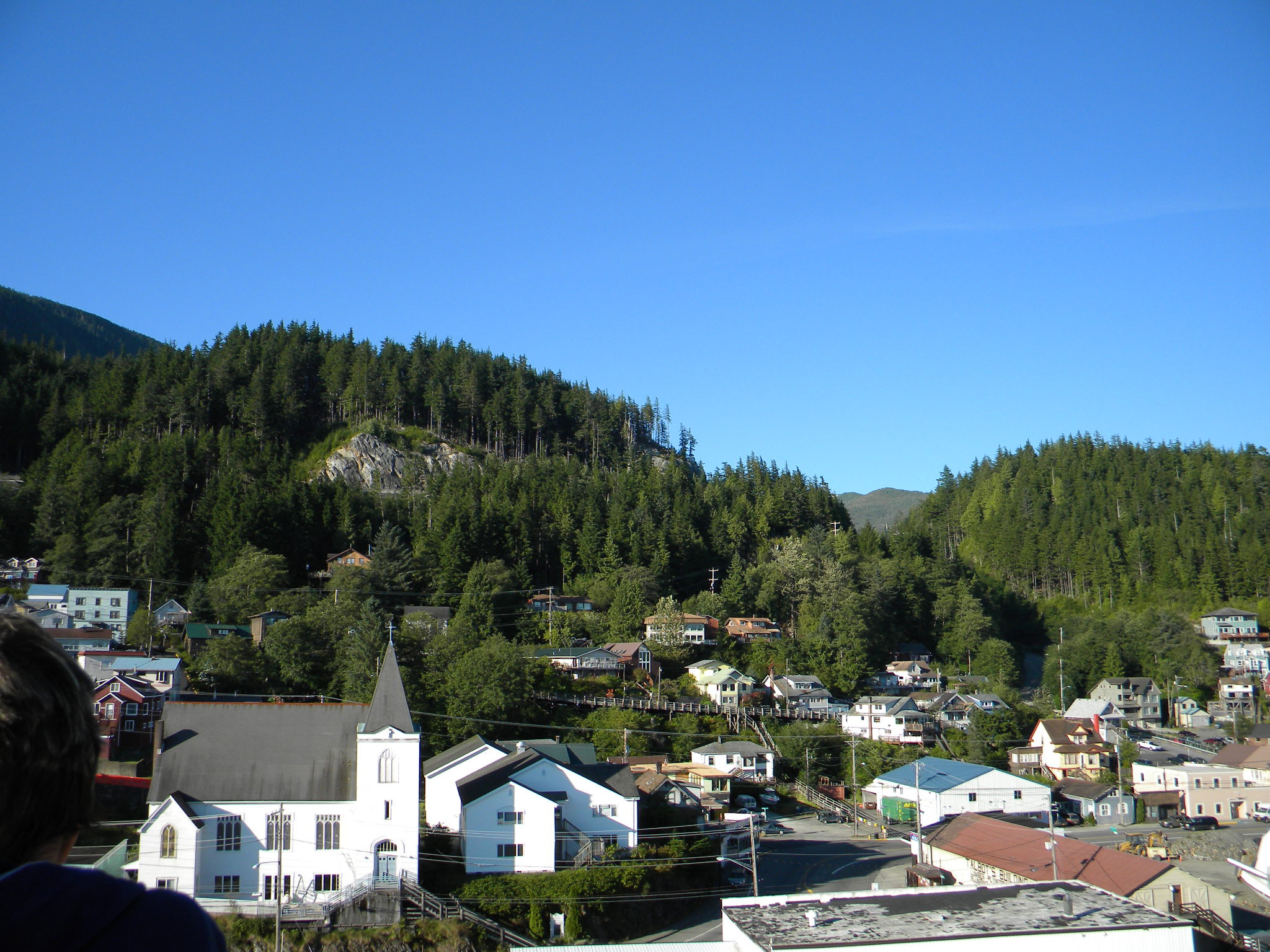 the city of Ketchikan, Alaska (view from the deck of our ship)
