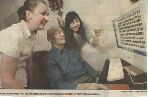 Tech-savvy Senior 100y.o.
