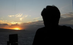Val at sunset at kahului(2011)