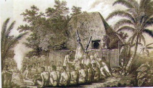 Captain James Cook at hawaiiaptain Cook at Hawaii