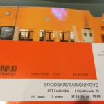 ticket for baryshnikov show