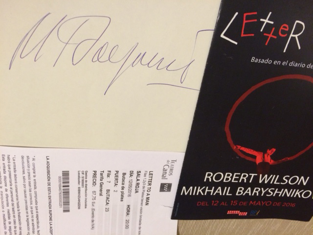 Letter to a Man(Ticket &Signature)